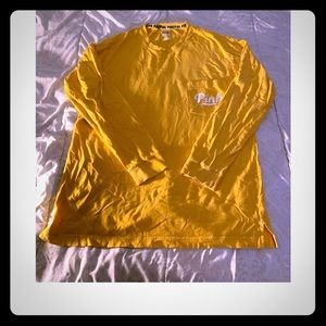 Yellow pink tee with pocket